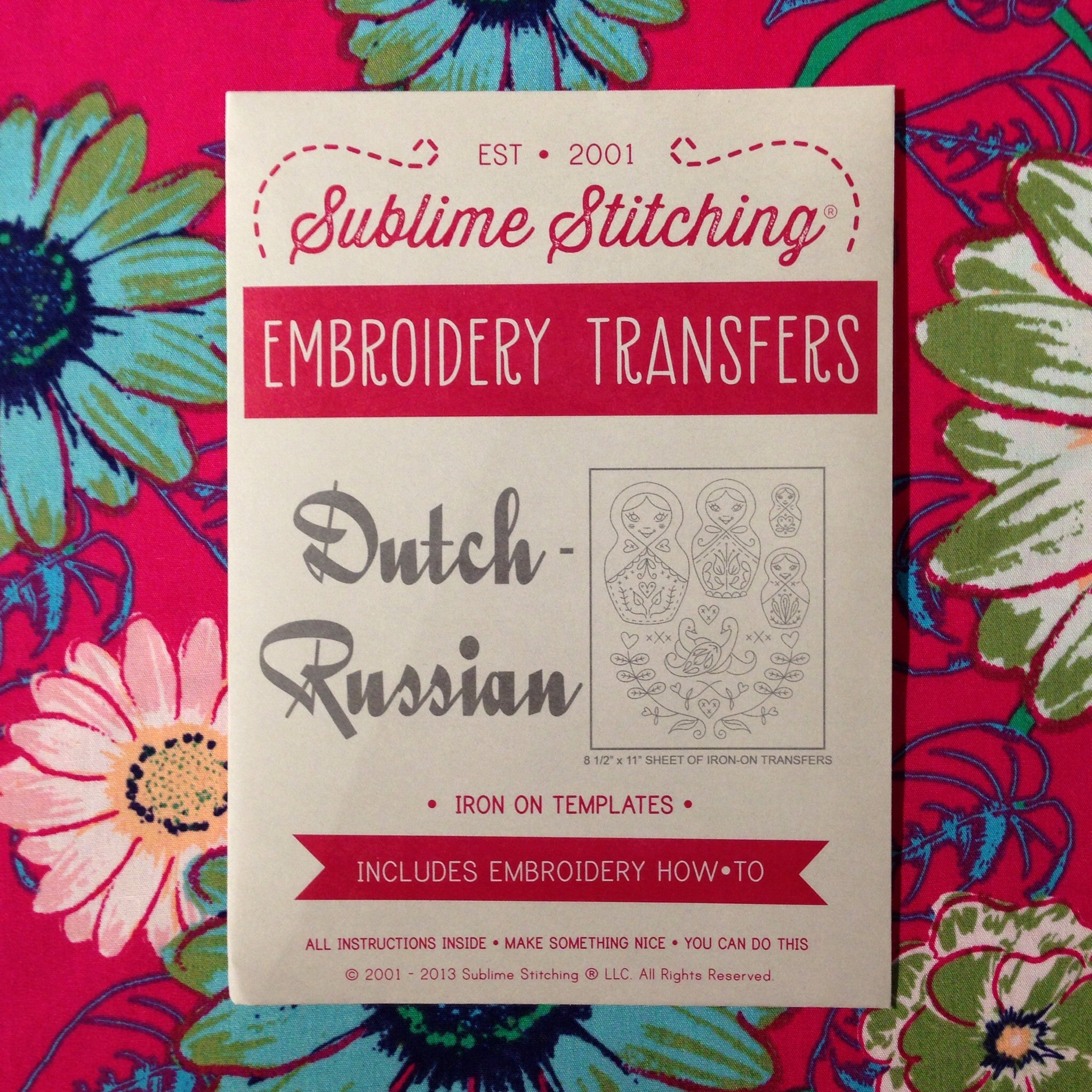 Sublime Stitching Embroidery Patterns - Dutch/Russian