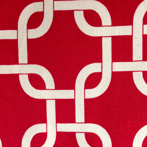 Gotcha Home Decor Fabric, Red on Natural - $15/yard