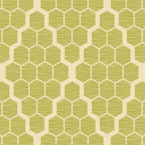 Joel Dewberry Bungalow Home Decor Sateen Hive, Grassland - $16/yard