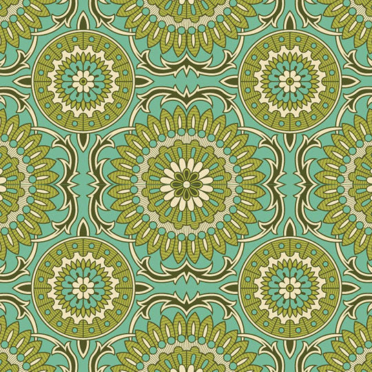 Joel Dewberry Bungalow Home Decor Sateen Doily, Mint - $16/yard