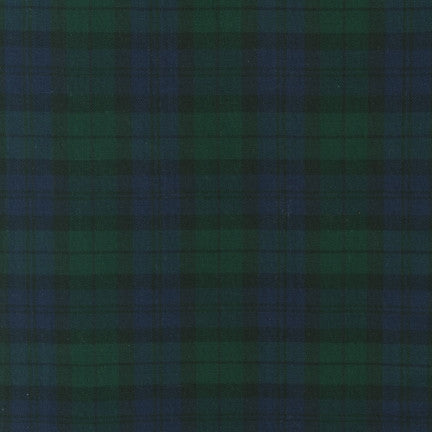 House of Wales Plaid by Robert Kaufman, Blackwatch - $12/yard