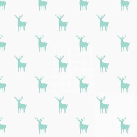 Camelot Fabrics Meadow - Deer in Mint - $12/yard