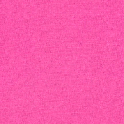 Robert Kaufman Fineline Twill, Bright Pink - $12/yard