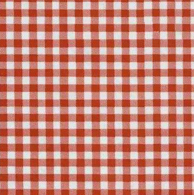 Traditional Oilcloth - Small Gingham Red - $10/yard