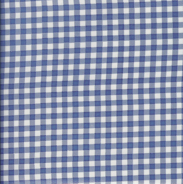 Traditional Oilcloth - Small Gingham Blue - $10/yard