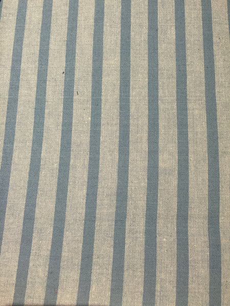 Blue on Blue Striped Chambray - 100% Cotton - $13/Yard
