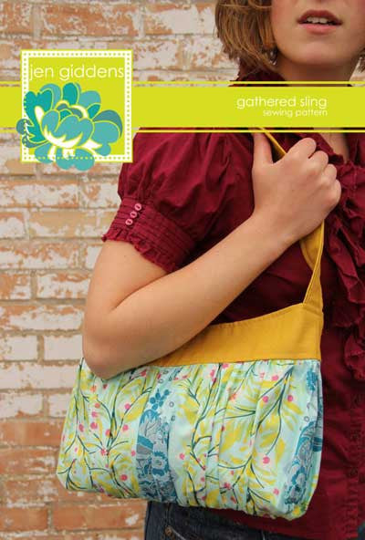 Gathered Sling Bag Pattern By Jen Giddens