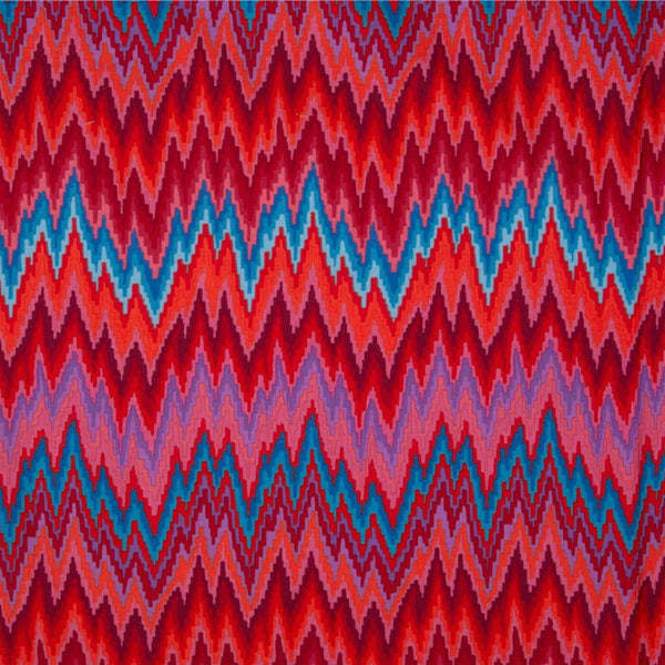 Kaffe Fassett Home Decor Sateen Flame Stripe, Red - $16/yard