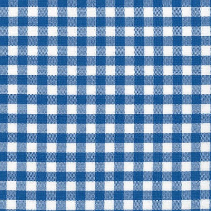 "Robert Kaufman Carolina Gingham 1/4"", Royal - $10.60/yard"