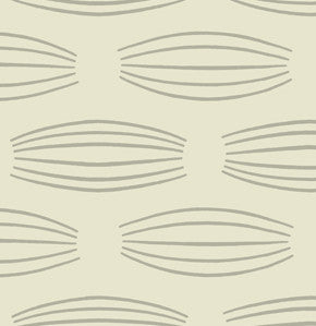 Parson Gray Curious Nature Sateen, Cocoons Silver - $16/yard