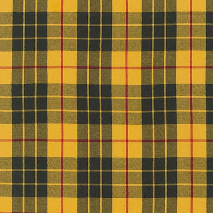 House of Wales Plaid by Robert Kaufman, Fancy Yellow - $12/yard