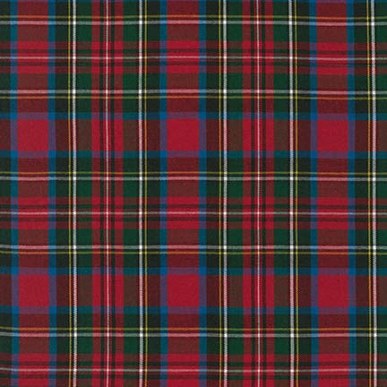 House of Wales Plaid by Robert Kaufman,Red Multi - $12/yard