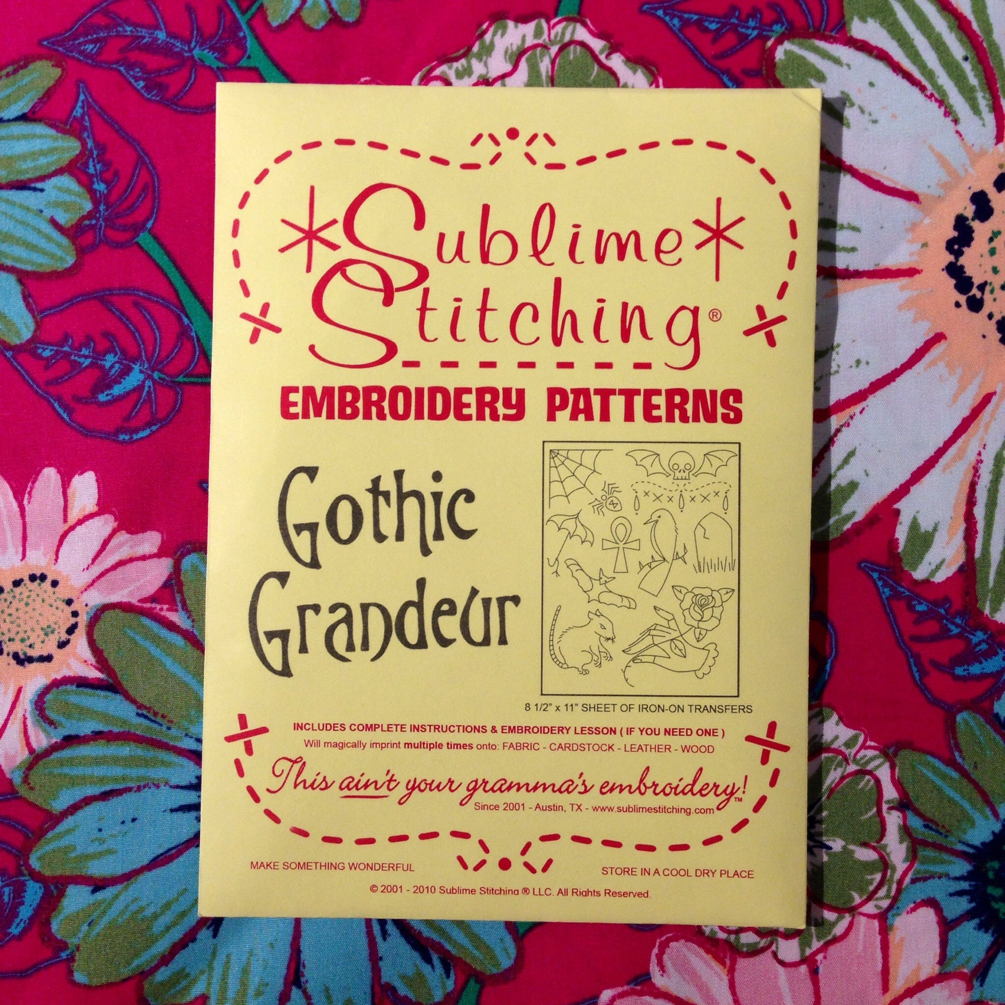 Sublime Stitching Embroidery Patterns - Gothic Grandeur