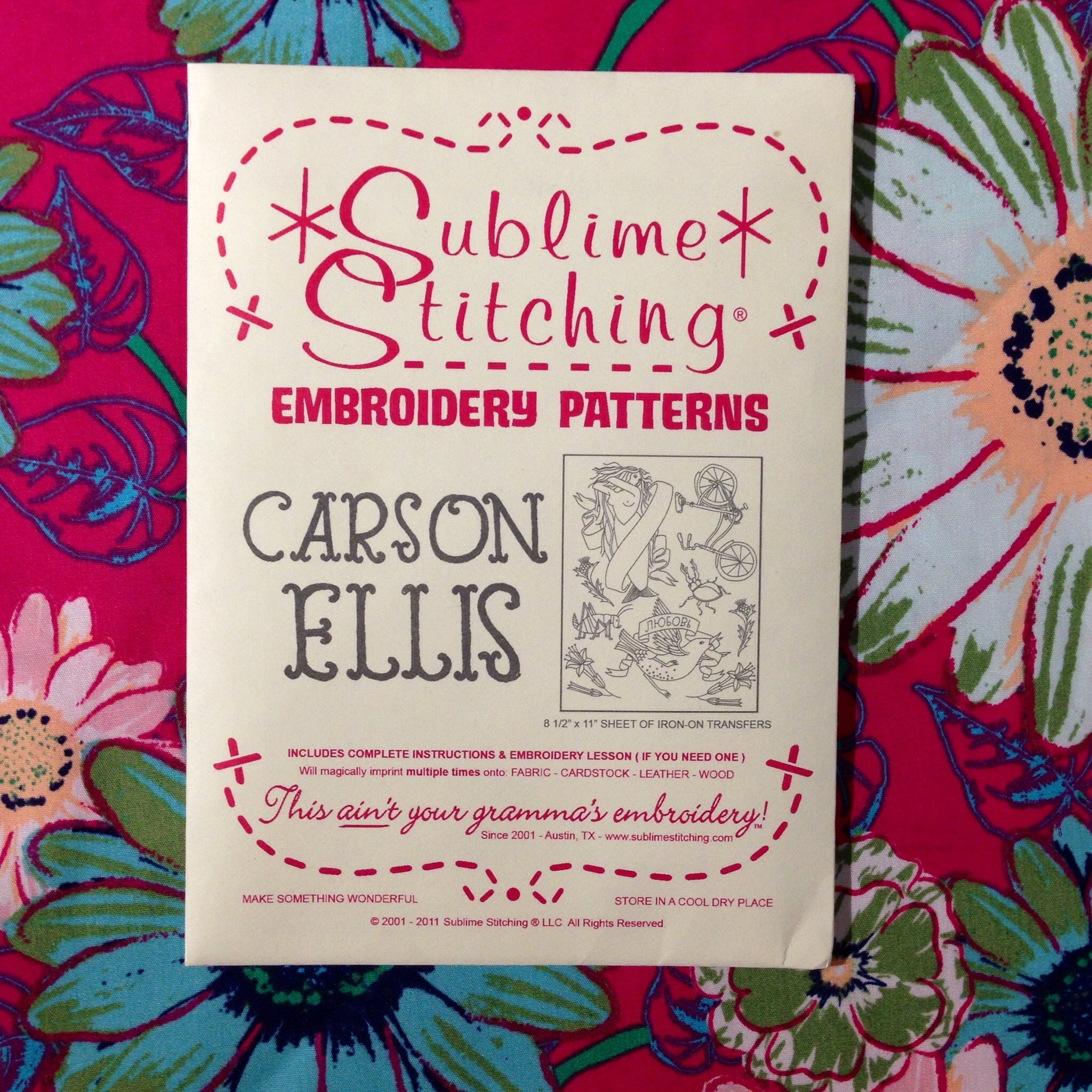 Sublime Stitching Embroidery Patterns - Carson Ellis