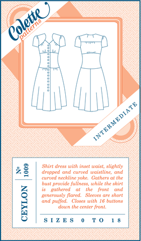 Colette Patterns Ceylon Dress