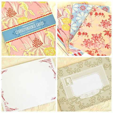 French General Correspondence Cards Stationery Set