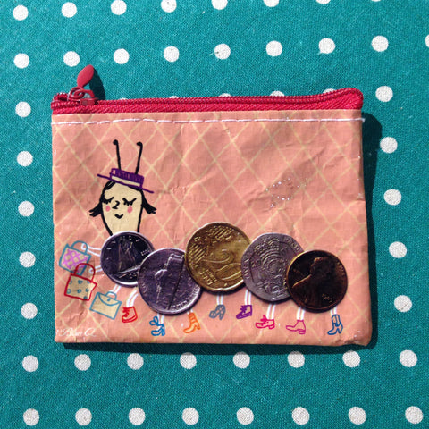 Blue Q - Cent-i-pede Coin Purse