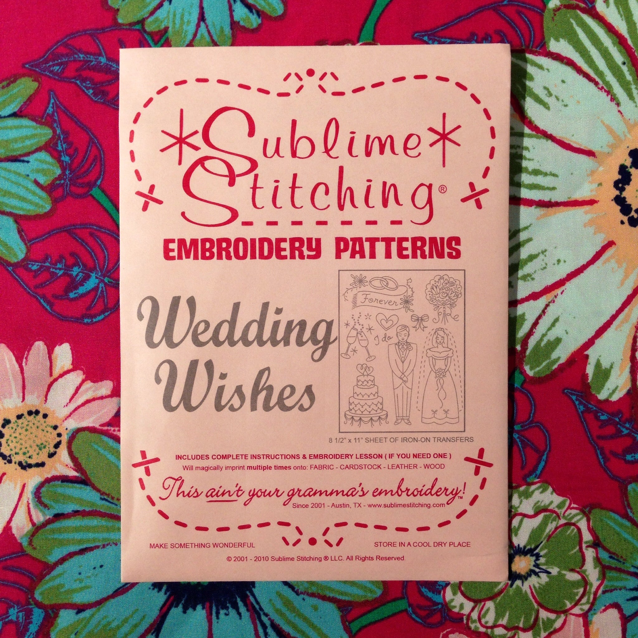 Sublime Stitching Embroidery Patterns - Wedding Wishes