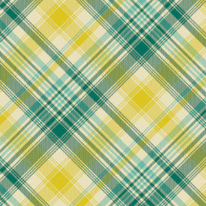 Joel Dewberry Home Decor Sateen Notting Hill Tartan, Aquamarine - $16/yard