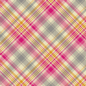 Joel Dewberry Home Decor Sateen Notting Hill Tartan, Pink - $16/yard