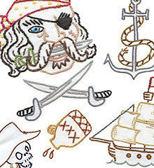 Sublime Stitching Embroidery Patterns - Pirates