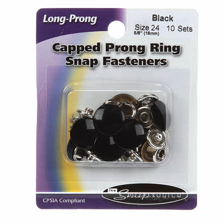Snap Size 24 Black Capped Prong