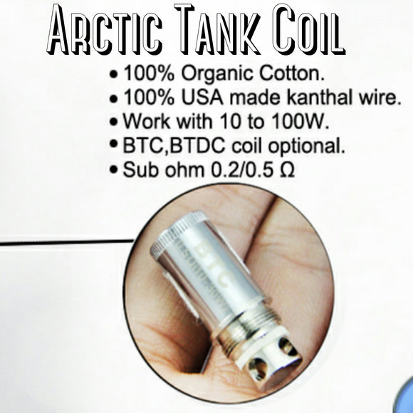 Arctic Coil by Horizon Tech -  5 pack - .05 (30-80W) Turbine Dual Coils - SIMPLY 4 VAPOR