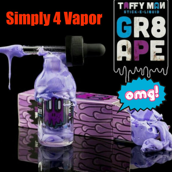Grape Taffy by Taffy Man Eliquid - SIMPLY 4 VAPOR