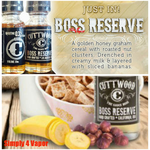 Boss Reserve by Cuttwood eLiquid eJuice - SIMPLY 4 VAPOR
