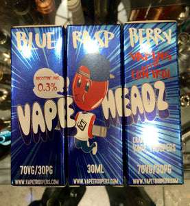 BLUE RASPBERRY by VAPE HEADZ 30ml eliquid - SIMPLY 4 VAPOR