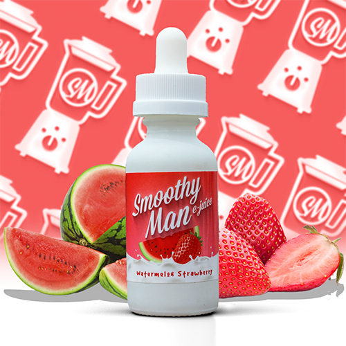 Smoothy Man E-Juice - Watermelon Strawberry
