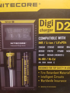 NITECORE | D2 DIGI CHARGER | 2 PORTS | DIGITAL | BATTERY CHARGER