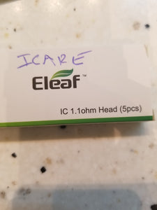 ELEAF | ICARE | IC 1.1ohm HEAD | COILS | 5PK