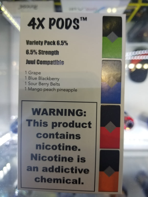 4X PODS | JUUL COMPATIBLE | 6.5% | 4pcs