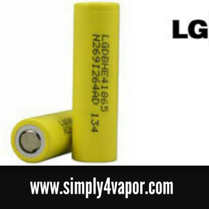 LG He4 18650 2500mah 35amp Rechargeable High Drain Battery - SIMPLY 4 VAPOR
