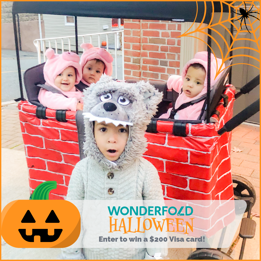 wonderfold halloween holiday stroller wagon costume idea