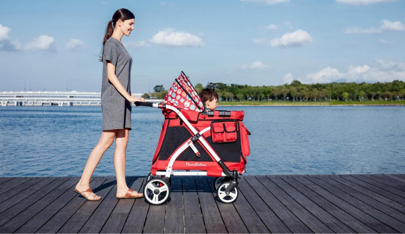 wonderfold stroller wagon baby and kids cruise transport 1 seater wagon mj01 detachable bassinet