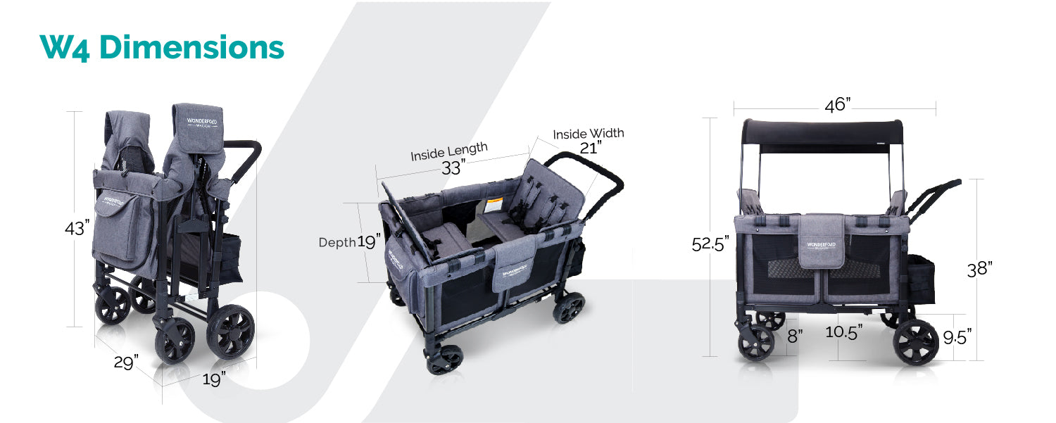 w4 stroller wagons dimension wonderfold wagon