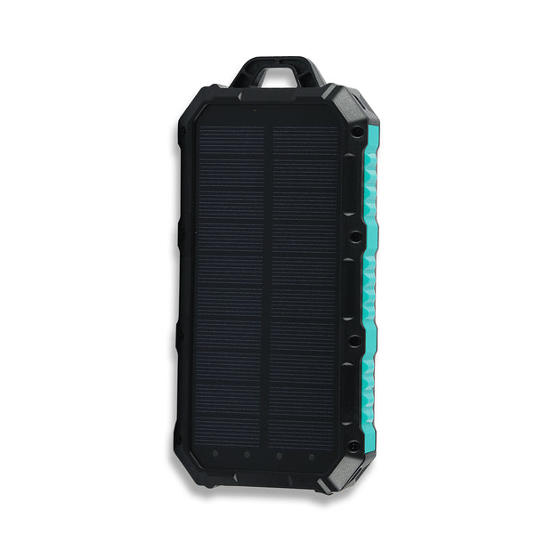 30,000mAh Solar Wireless Charger Power Bank with LED Lights + Phone Holder