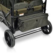 X4 Woodland Green Pull & Push Double Stroller Wagon with Automatic Magnetic Seatbelt Buckles (4 Seater)