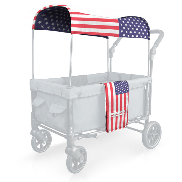 USA Flag Canopy Fabric Replacement with UV Protection for W Series (Limited Edition)