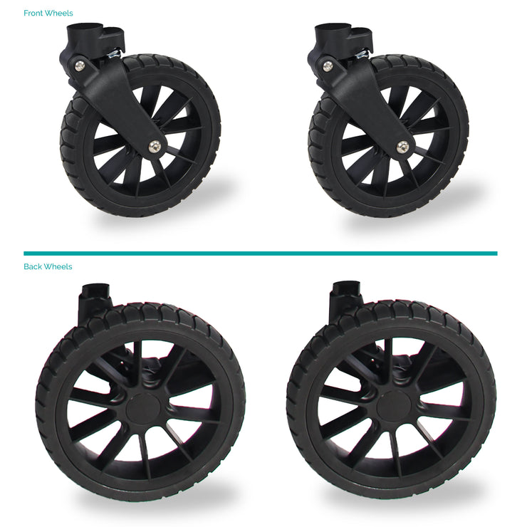 All Terrain XL Wheels with PU Tires Set for W4 Only
