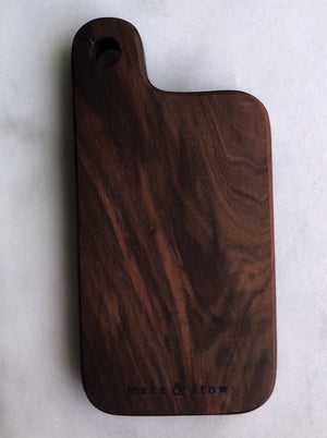 Mini Board with Handle in Walnut or Maple