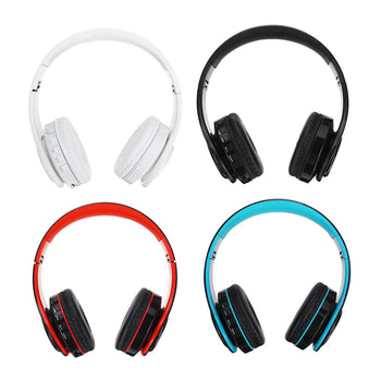 Bluetooth 5.0 Wireless Headset Earphone Headphone Support MicroSD Card FM Radio For Tablet Cellphone