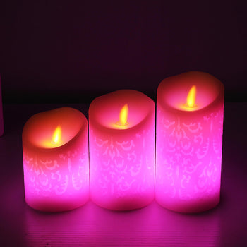 Battery Operated Remote Control Flickering Flameless LED Candle Lamp Tea Light Votive