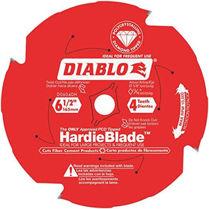"6-1/2"" Diablo Hardie Siding Blade 4teeth"