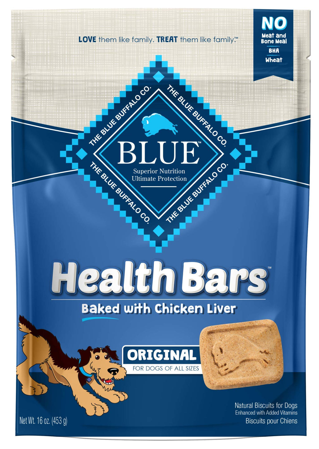Blue Buffalo Health Bars Natural Crunchy Dog Treats Biscuit-Earth&Skye