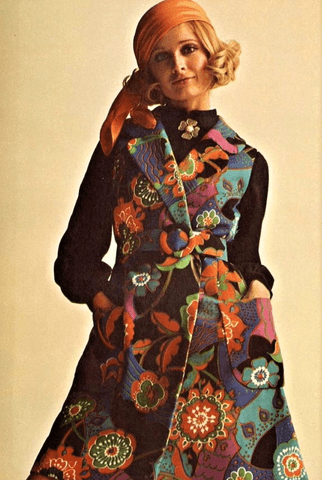 Vintage Bright Colorful Coats