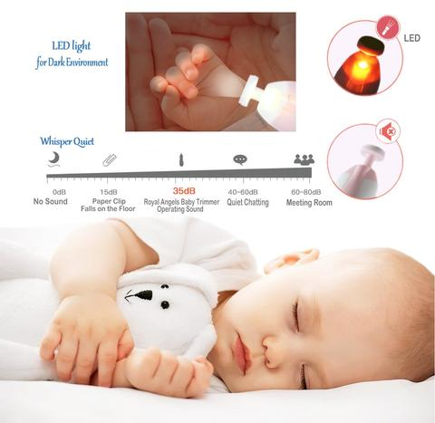 Electric Safe Nail Baby Trimmer