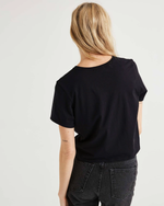 Load image into Gallery viewer, Boxy Crop Tee - Black